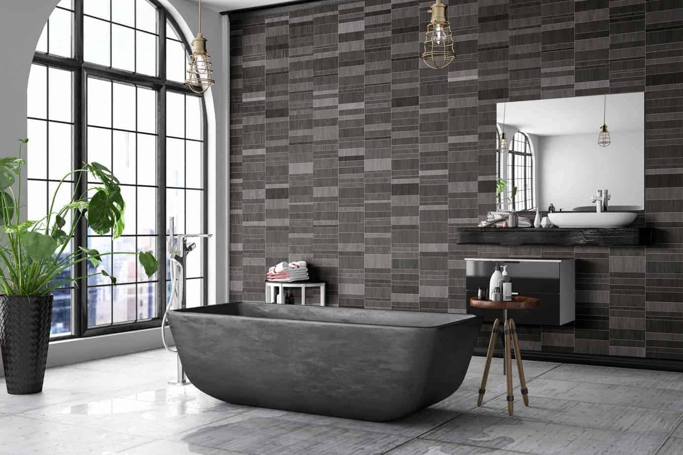 brown mosaic tile