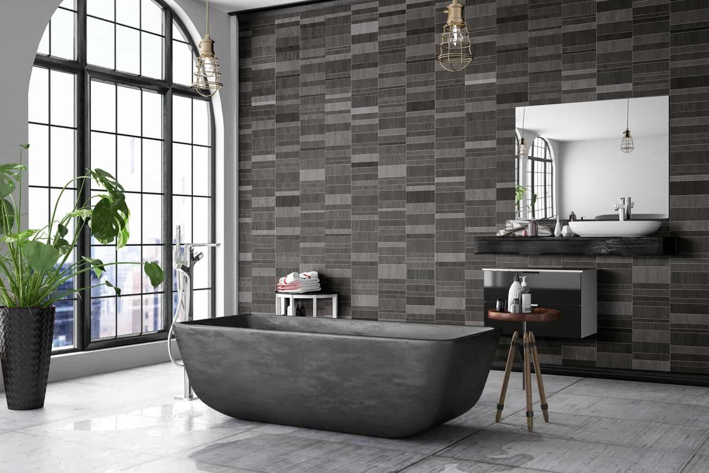 brown mosaic tile