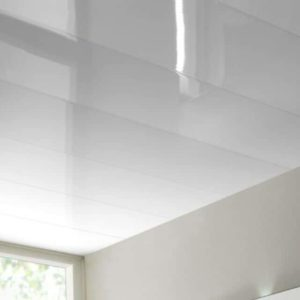 white gloss ceiling