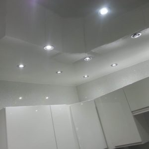 white gloss ceiling panel