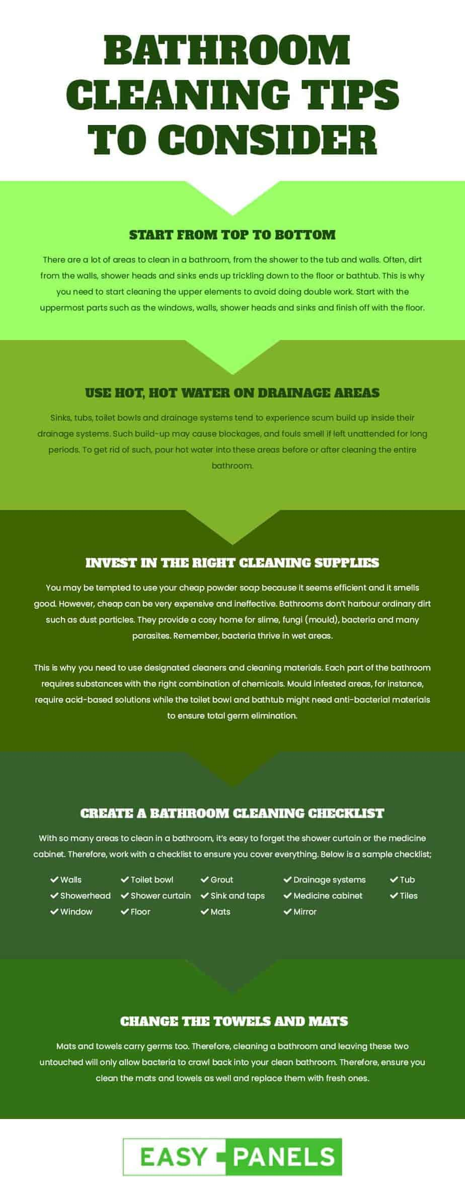 BATHROOM CLEANING TIPS TO CONSIDER