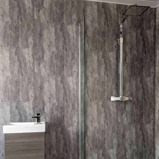 Silver Metallic Shower Panel (4)