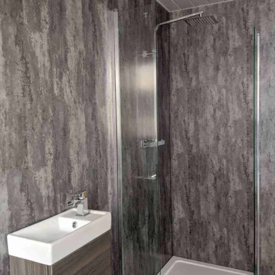 Silver Metallic Shower Panel (5)