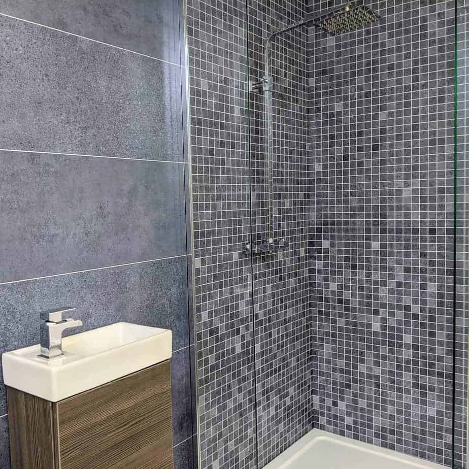 Roman Blue Mosaic Shower Panel Easypanels Co Uk