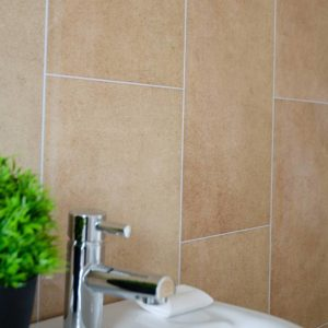 Taupe Tile Effect