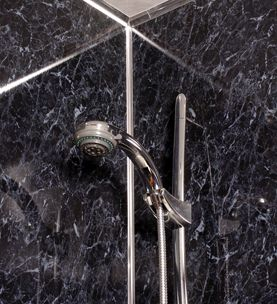 GALAXY BLACK SWIRL SHOWER PANEL